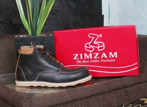 Sepatu Boots Kulit